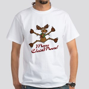 Merry Christmoose [jumping] White T-Shirt